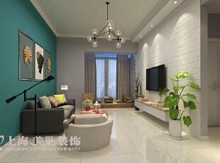 国龙绿城怡园88平两室两厅简约风格装修案例—客厅装修效果图,88平,6万,现代,两居,
