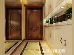 天骄华庭3室2厅简欧风格装修方案---入户门装修效果图,138平,7万,欧式,三居,玄关,