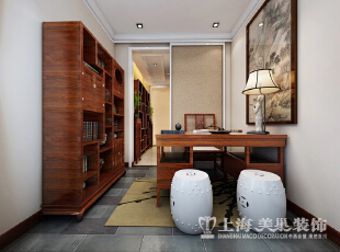 郑州天骄华庭138平方3室2厅装修效果图---书房,138平,7万,欧式,三居,书房,