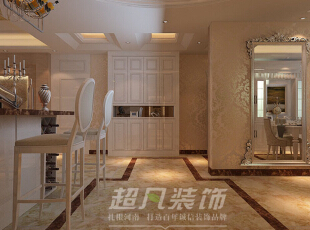 灵宝黄金大厦180平欧式风格案例赏析——吧台装修效果图,180平,16万,欧式,大户型,