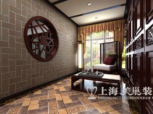 海马公园141平方三室两厅新中式风格装修效果图--休闲区,浓厚的新中式文化氛围扑面而来,让您陶醉于此。,141平,10万,中式,三居,