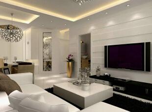 ,90平,13万,现代,两居,客厅,
