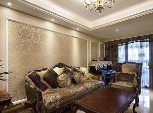 理想世界简欧装修两室两厅90平样板间案例——客厅全景效果图,90平,6万,欧式,两居,永恒理想世界装修,美巢装饰,装修装饰,装修优惠,装修团装,