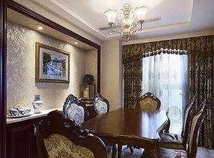理想世界简欧装修两室两厅90平样板间案例——餐厅全景,90平,6万,欧式,两居,永恒理想世界装修,美巢装饰,装修装饰,装修优惠,装修团装,