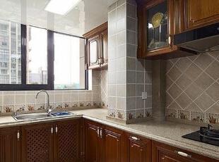理想世界简欧装修两室两厅90平样板间案例——厨房效果图,90平,6万,欧式,两居,永恒理想世界装修,美巢装饰,装修装饰,装修优惠,装修团装,