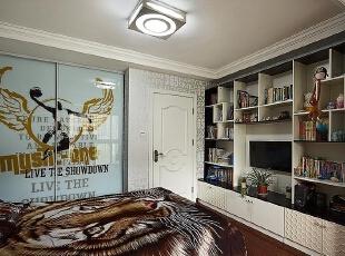 理想世界简欧装修两室两厅90平样板间案例——次卧兼书房,90平,6万,欧式,两居,永恒理想世界装修,美巢装饰,装修装饰,装修优惠,装修团装,