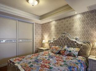 永恒理想世界简欧装修两室两厅90平样板间案例——卧室效果图,90平,6万,欧式,两居,永恒理想世界装修,美巢装饰,装修装饰,装修优惠,装修团装,
