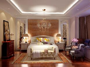 设计理念:女儿房是一个以欧式风格为主导的设计。亮点:顶部的吊顶,加上床头的软包,奢华中伴着温馨。配着地面沙比利色调的地板,又表现出女主人性格中的沉稳,也体现了落叶归根家的感觉,136平,8.5万,混搭,三居,儿童房,
