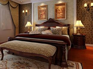 设计理念:采用了欧式元素与现代风格相结合为主导设计概念, 以现代简明的表现手法,演绎传统的欧洲宫廷家具文化精髓。亮点:沙比利色调,配上欧式家具,尊贵与奢华尽显!,136平,8.5万,混搭,三居,卧室,