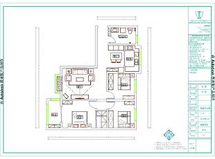 溪景桂园三室两厅地中海风格装修户型图,118平,7万,地中海,三居,