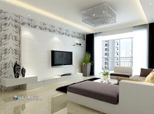 ,130平,9万,现代,四居,客厅,白色,