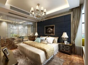 ,160平,35万,新古典,三居,卧室,黄色,黑白,