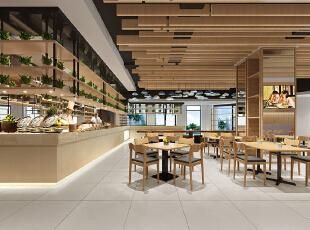 餐厅角度1,600平,100万,简约,公装,
