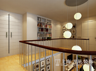 托斯卡纳140平现代简约风格三室两厅装修案例效果图展示——二楼挑空效果图,140平,11万,现代,三居,