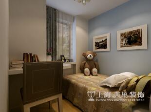 斯卡纳小区现代简约三室两厅140平方米居室装修效果图——儿童房,以丰富的色彩搭配,凸出小孩的天真。,140平,11万,现代,三居,