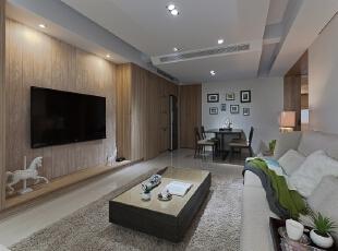 ,150平,50万,小户型,现代,客厅,白色,原木色,