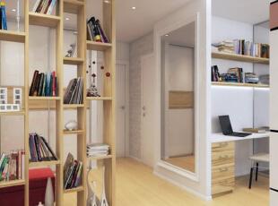 ,66平,5万,现代,公寓,书房,黄色,