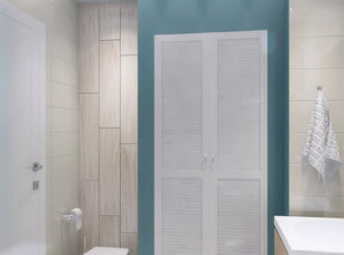 ,66平,5万,现代,公寓,卫生间,白色,蓝色,