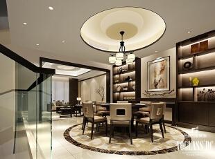 ,340平,3万,中式,别墅,餐厅,黑白,