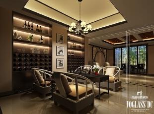 ,340平,3万,中式,别墅,吧台,黑白,