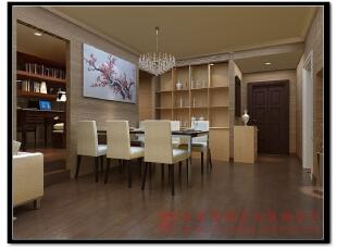 【效果图展示】:餐厅与小工作室空间的结合,充分了利用整体空间,使得空旷的空间不再平淡,充实起来。,140平,现代,两居,餐厅,餐厅,黄色,原木色,