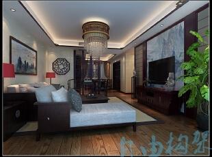 ,258平,30万,中式,复式,客厅,原木色,黑白,
