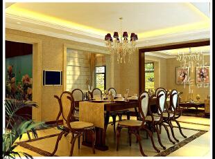 ,400平,20万,公寓,欧式,餐厅,黄色,