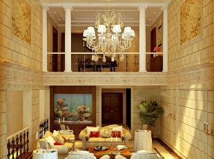 ,400平,20万,公寓,欧式,客厅,黄色,