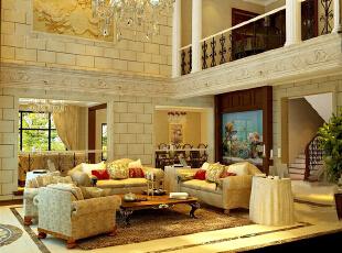 ,130平,8万,大户型,现代,客厅,黄色,