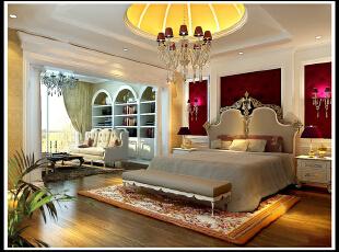 ,130平,8万,大户型,现代,卧室,白色,