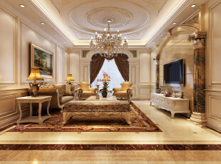 ,110平,49万,三居,欧式,客厅,黄色,