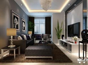 ,84平,7万,现代,两居,简约,客厅,小资,宜家,客厅,黑白,