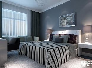 ,84平,7万,现代,两居,卧室,简约,黑白,