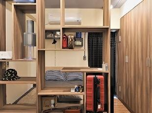 ,30平,3万,现代,小户型,卧室,原木色,