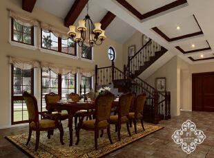 ,250平,35万,欧式,别墅,餐厅,别墅设计,原木色,