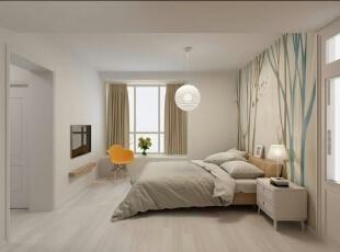 卧室,140平,9万,清新,三居,