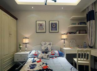 ,86平,9万,地中海,两居,卧室,儿童房,白色,