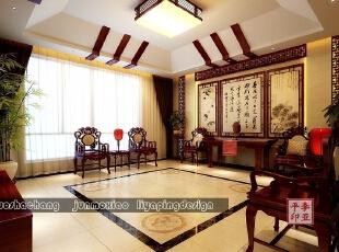 ,380平,48万,中式,别墅,客厅,