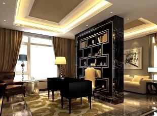 起居室以东方传统文化内涵为设计元素展现现代风格别墅设计,去掉繁复细节,以现代简约的造型艺术诠释东方神韵。运用带有历史韵味的别墅配饰符号:选用深色木制桌椅以及极少的金属装饰;色彩以深褐色、灰、紫、金、银等色调相配合;舒适、自然地把东方味道发挥得淋漓尽致,看似随意却又经得起时间的推敲。,235平,100万,现代,别墅,