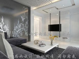 客厅电视墙,100平,现代,三居,客厅,
