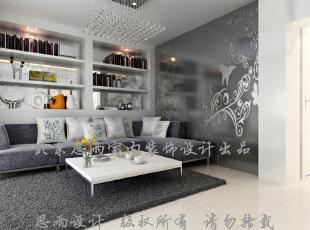 客厅沙发墙,100平,现代,三居,客厅,