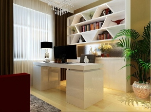 书房里面只有一个厨房阳台窗户,间接采光。,128平,9万,现代,三居,
