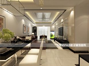 ,99平,4万,现代,两居,客厅,简约,黑白,
