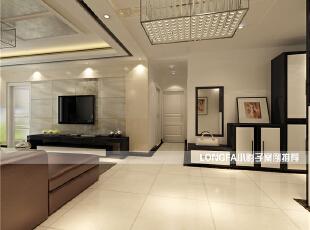 ,99平,4万,现代,两居,客厅,黑白,