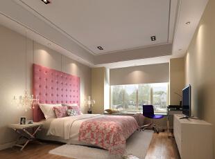 ,89平,25万,现代,两居,卧室,粉色,