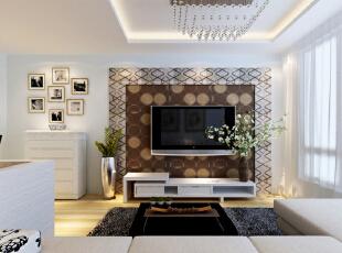 设计理念:对居室空间进行了变换,原来次卧的位置变为客厅,而原客厅的位置专供给餐厅使用,厨房为u型橱柜,增加主人烹饪的空间及乐趣。 亮点:使得客厅空间变大,增加一家人相处的时间。玄关处也更为宽敞不憋闷。,98平,6.7万,现代,两居,客厅,