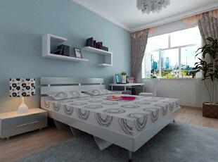 设计理念:整个居室的设计风格为现代简约,故主卧未做过多的造型,只是在墙面颜色上加以改变,以呼应客厅,与整个居室融为一体。 亮点:主卧采光极好,搭配以现代简约的家具,带给主人温馨自然的主卧环境,使主人全身心的放松。,98平,6.7万,现代,两居,卧室,