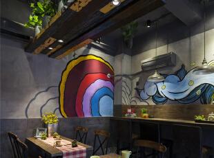半圆形的餐桌,平时不用的时候可以放下来。,28平,6.6万,混搭,Loft,餐厅,灰色,