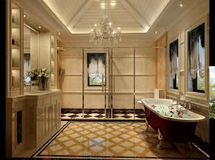 二楼卫生间,480平,42万,新古典,别墅,卫生间,