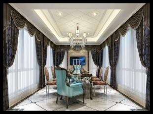 餐厅,42万,新古典,别墅,餐厅,